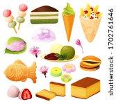 japanese dessert collection ...   Shutterstock .eps vector #1702761646