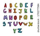 cartoon alphabet | Shutterstock .eps vector #170277584