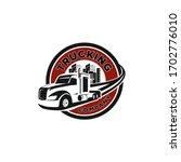 truck trucking company... | Shutterstock .eps vector #1702776010