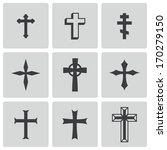 Vector Black Christia Crosses...