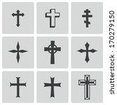 Vector Black Christia Crosses...