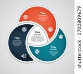 vector circle infographic.... | Shutterstock .eps vector #1702809679