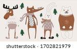 Christmas  Funny Animals Set ...