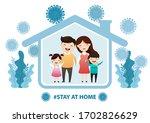 fears of getting coronavirus.... | Shutterstock .eps vector #1702826629