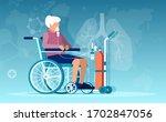 vector of a senior woman... | Shutterstock .eps vector #1702847056