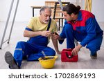 Two Contractors In First Aid...