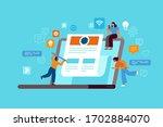 vector illustration in flat... | Shutterstock .eps vector #1702884070