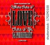 happy valentine's day hand... | Shutterstock .eps vector #170290100