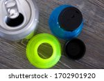 Colorful Recycling Blue Plasti...