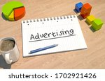 advertising   text concept with ...   Shutterstock . vector #1702921426