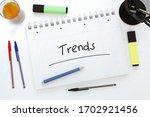 trends   handwritten text in a...   Shutterstock . vector #1702921456
