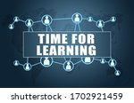 time for learning   text...   Shutterstock . vector #1702921459