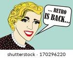 retro is back   retro woman   Shutterstock . vector #170296220