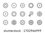 gear line icon set. collection... | Shutterstock .eps vector #1702966999