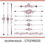 set of vintage calligraphic... | Shutterstock .eps vector #170298020