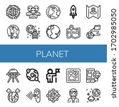 planet icon set. collection of... | Shutterstock .eps vector #1702985050