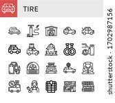 tire icon set. collection of... | Shutterstock .eps vector #1702987156