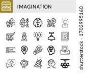 imagination icon set....   Shutterstock .eps vector #1702995160