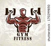 Bodybuilder  Athlete Exercisin...