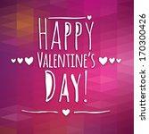 happy valentine's day ... | Shutterstock .eps vector #170300426