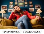 Stressed Woman Overthinking...