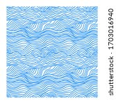 seamless pattern with blue... | Shutterstock .eps vector #1703016940