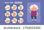 old women teaching wash your...   Shutterstock .eps vector #1703033200