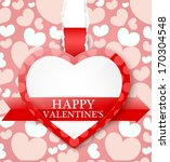valentines day card | Shutterstock . vector #170304548