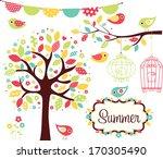summer garden   Shutterstock .eps vector #170305490