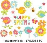 spring birds | Shutterstock .eps vector #170305550