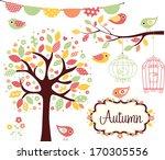 autumn garden | Shutterstock .eps vector #170305556