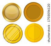 four different style blank gold ... | Shutterstock .eps vector #1703056120