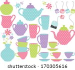princess tea party | Shutterstock .eps vector #170305616