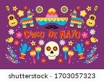 cinco de mayo mexican holiday... | Shutterstock .eps vector #1703057323