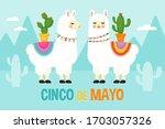 cinco de mayo mexican holiday... | Shutterstock .eps vector #1703057326