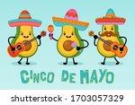 cinco de mayo mexican holiday... | Shutterstock .eps vector #1703057329