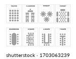 a set of schemes for arranging... | Shutterstock .eps vector #1703063239