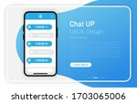 chat up. smartphone blank...