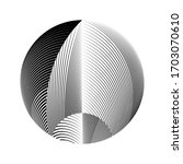 abstract halftone lines... | Shutterstock .eps vector #1703070610
