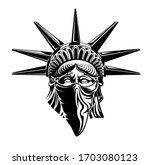 Statue Of Liberty Head With...