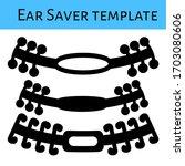 ear saver template design for... | Shutterstock .eps vector #1703080606
