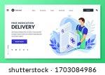 online pharmacy home safe... | Shutterstock .eps vector #1703084986