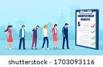 vector of sad jobless men and... | Shutterstock .eps vector #1703093116