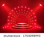 podium with lighting. stage ...   Shutterstock .eps vector #1703098993
