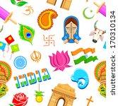 illustration of seamless indian ... | Shutterstock .eps vector #170310134