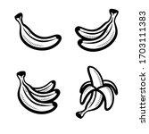 bananas set. collection icon... | Shutterstock .eps vector #1703111383