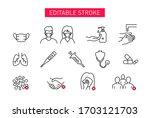 set of coronavirus safety... | Shutterstock .eps vector #1703121703
