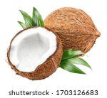 Delicious Coconuts  Isolated On ...
