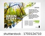 printing ecology magazine ... | Shutterstock .eps vector #1703126710