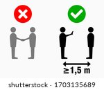 social distancing at least 1 5... | Shutterstock .eps vector #1703135689